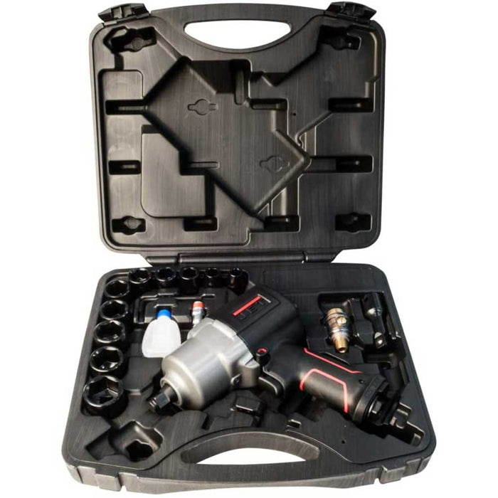 "JET 505121K R12 JAT-121K Kit-1/2"" 750 Ft-Lbs Impact Wrench Kit w/ Sockets"