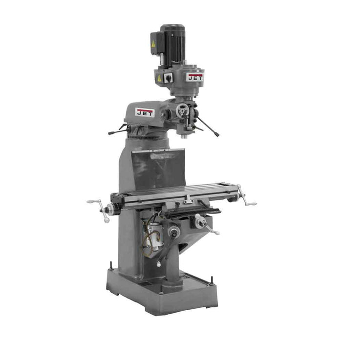 JET JVM-836-1 1-1/2-Hp 115V High Precision Step Pulley Milling Machine