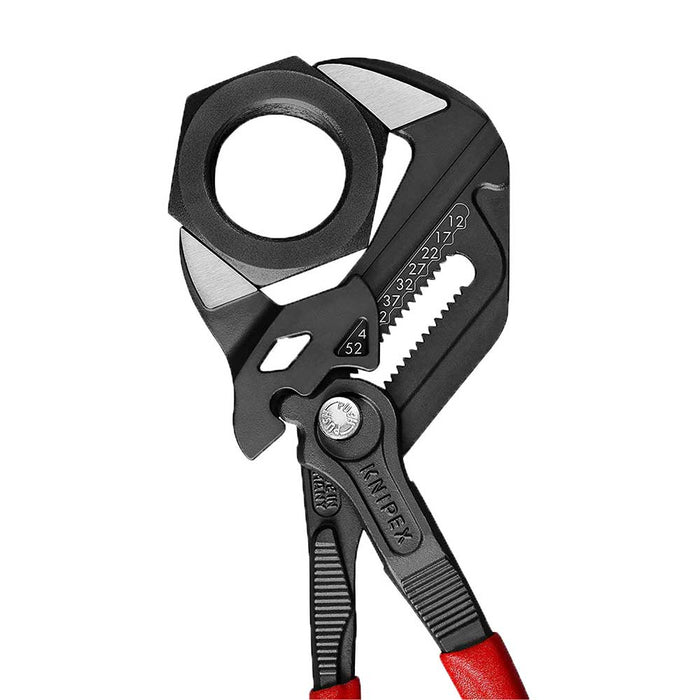 Knipex 86 01 250 10'' Grey Pliers Wrench w/ Non-Slip Plastic Coated Handles