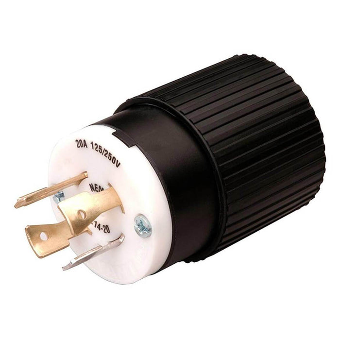 Reliance L1420P 20-Amp Generator Power Cord Plug For Up To 5000 Watt Generators