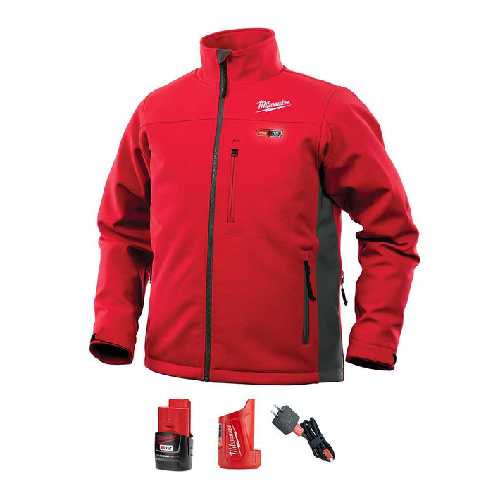 Milwaukee 202R-21L 12V M12 Large Li-Ion Heated Toughshell Red Jacket Kit