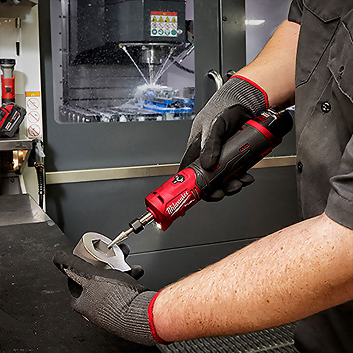 "Milwaukee 2486-20 1/4"" M12 Cordless Brushless Straight Die Grinder - Bare Tool"