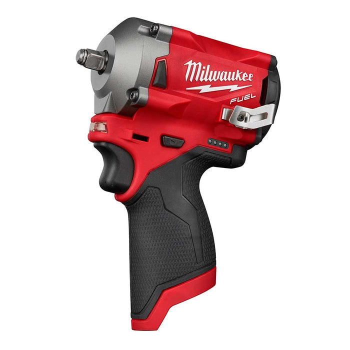 "Milwaukee 2554-80 M12 FUEL 3/8"" Stubby Impact Wrench - Bare Tool - Reconditioned"