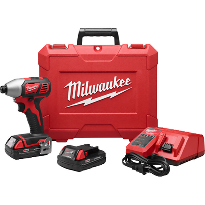 Milwaukee 2656-22CT M18 18-Volt 1/4-Inch Hex Impact Driver Cp w/ Batteries