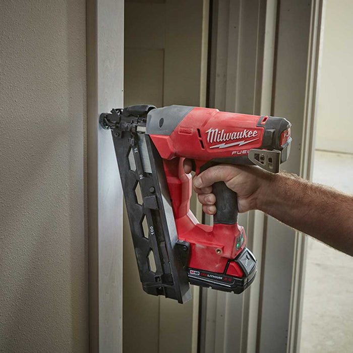 Milwaukee 2742-80 M18 18V 16-Gauge FUEL Angled Nailer - Bare Tool -Reconditioned