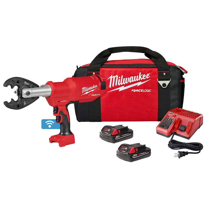 Milwaukee 2977-22O M18 Force Logic 6T Pistol Utility Crimper w/ O-D3 Jaw
