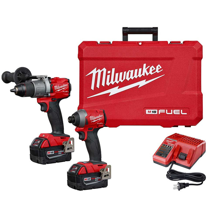Milwaukee 2997-82 M18 FUEL Hammer Drill/Impact Driver Combo Kit -Reconditioned