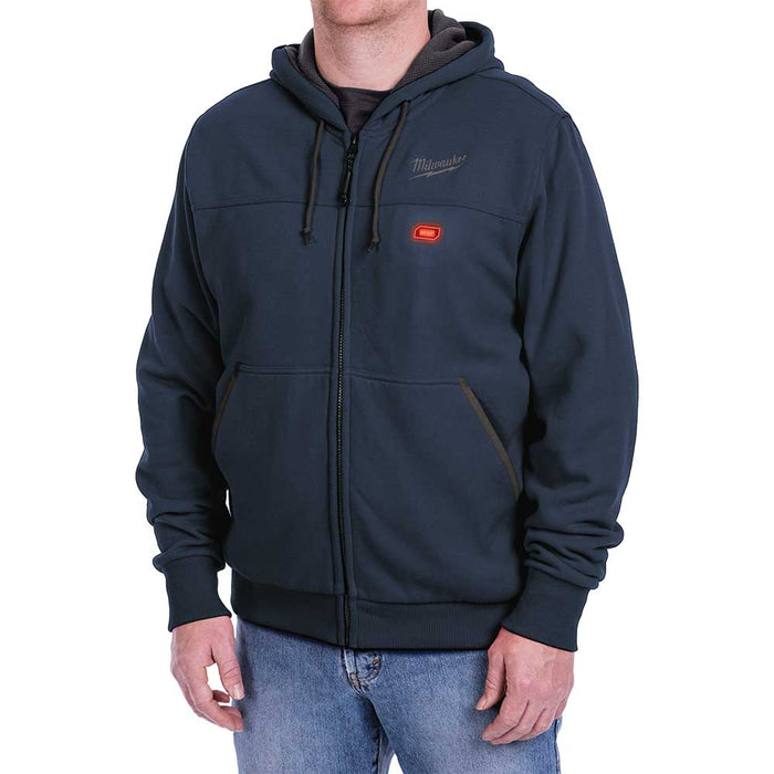 Milwaukee 302BL-21XL M12 12V X-Large Lithium-Ion Heated Navy Blue Hoodie Kit