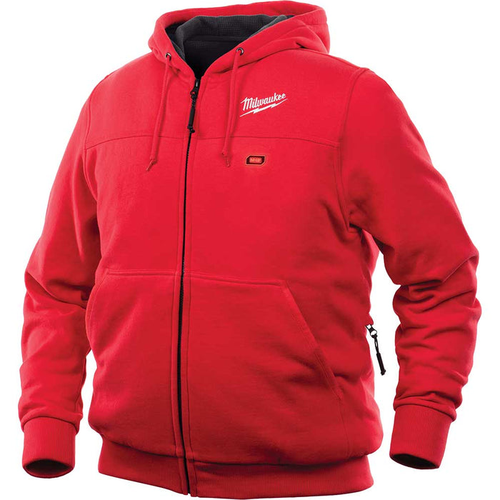 Milwaukee 302R-21XL 12V M12 Lithium-Ion X-Large Heated Red Hoodie Kit