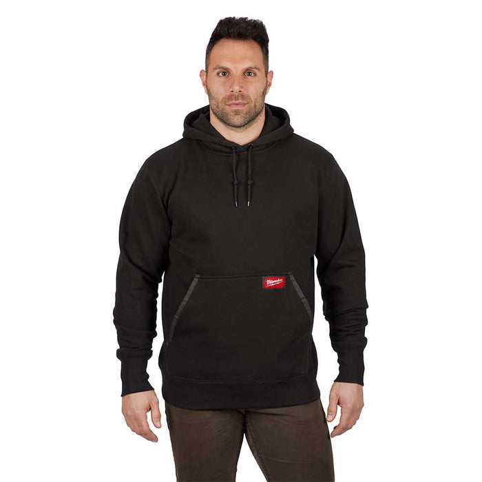 Milwaukee 350B-L Heavy Duty Pullover Hoodie Black - Large
