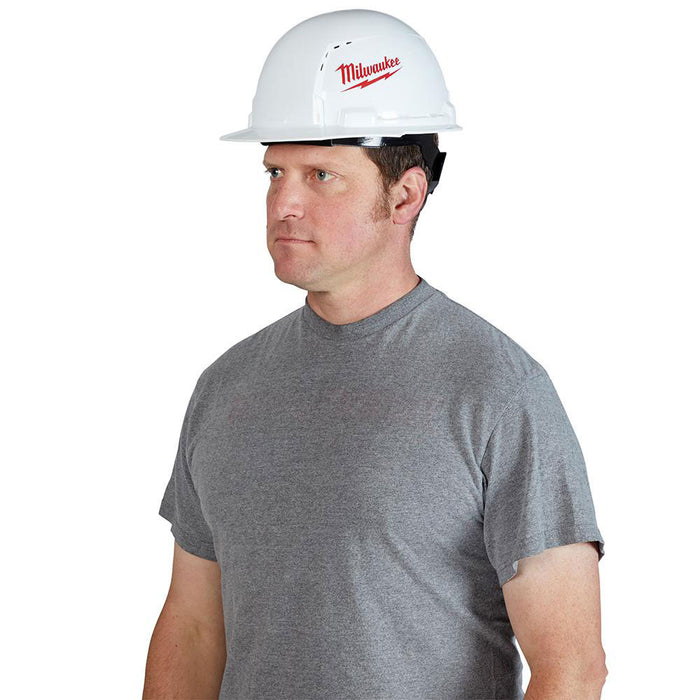 Milwaukee 48-73-1001 Front Brim Vented Hard Hat w/ BOLT Slots Type 1 Class C