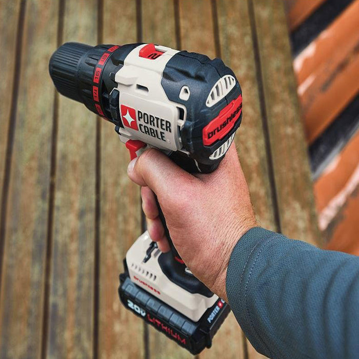 Porter Cable PCC608LB 20-Volt Max Lithium-Ion Cordless Compact Brushless Drill