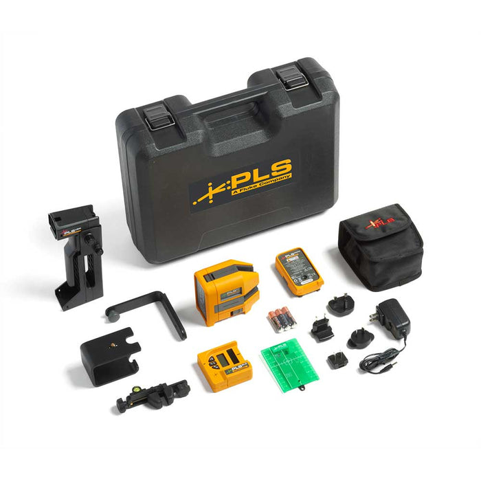 PLS 6G RBP SYS, Cross Line and Point Green Laser System w/Rechargeable Batt pk