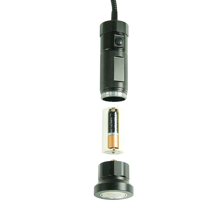 RIKON 12-201 18-Inch LED Gooseneck WorkLight w/ Magnetic Base and Magnetic Clip
