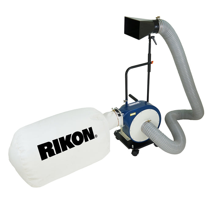 RIKON 60-105 230-Volt 1-Hp Heavy Duty Powerful Portable Mount Dust Collector