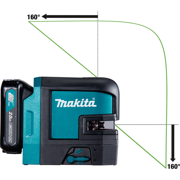 Makita SK105GDNAX 12 volt max 2.0 Ah CXT Cordless Green Beam Laser Kit