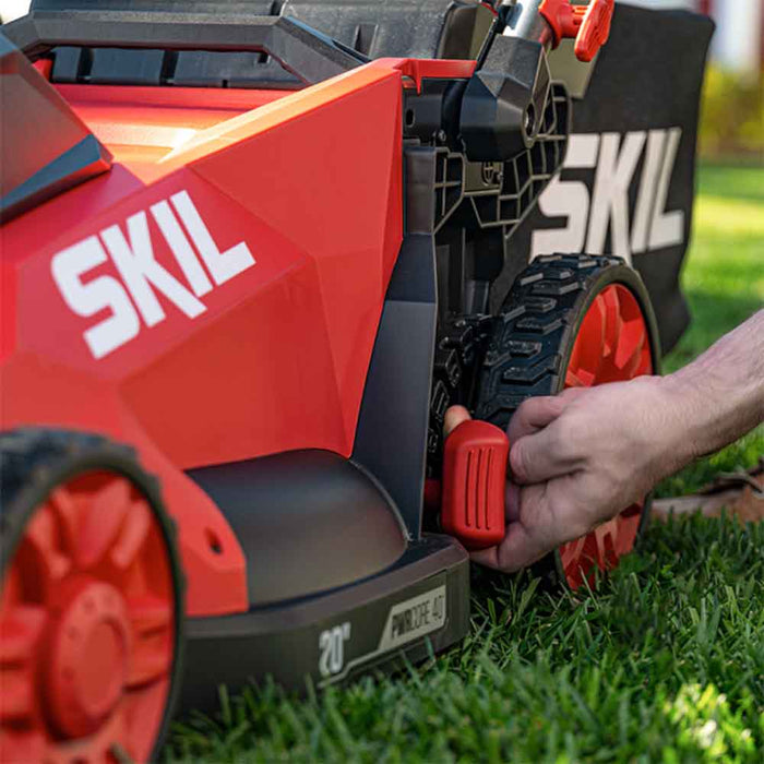 "Skil PM4910-10 40V PWRCore 20"" Cordless Brushless Push Lawn Mower Kit"