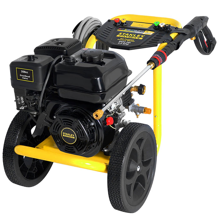 Stanley SXPW3425 208cc 3400-Psi 2.5-Gpm Gas Powered Cold-Water Pressure Washer