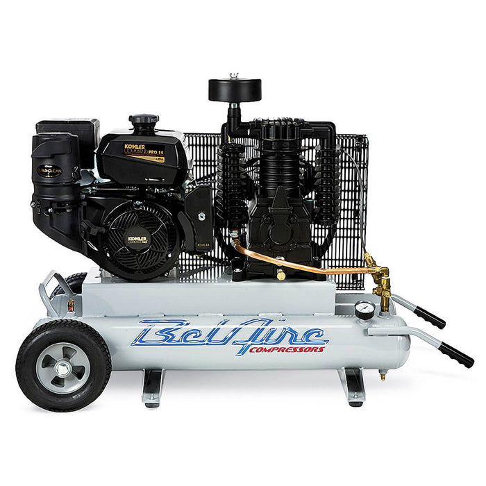 BelAire TK128-I 14-HP 2x5-Gallon Portable Gas Powered Contractor Air Compressor