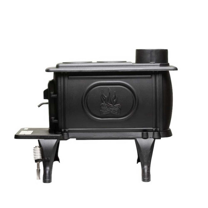 US Stove US1269E 900 Square Feet Cast Iron Log Wood Stove - 2020 EPA Certified