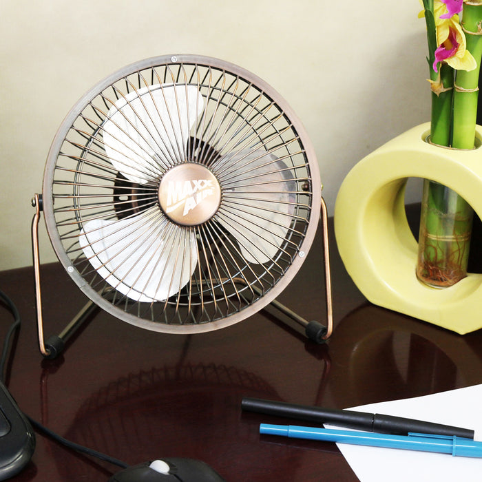 Ventamatic HVDF6 6--Inch Metal High Velocity Desk Fan with USB Plug - HVDF6UPS