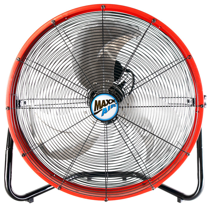 Maxx Air HVFF20S RED 20-Inch High Velocity Shrouded Floor Fan-HVFF20S REDUPS