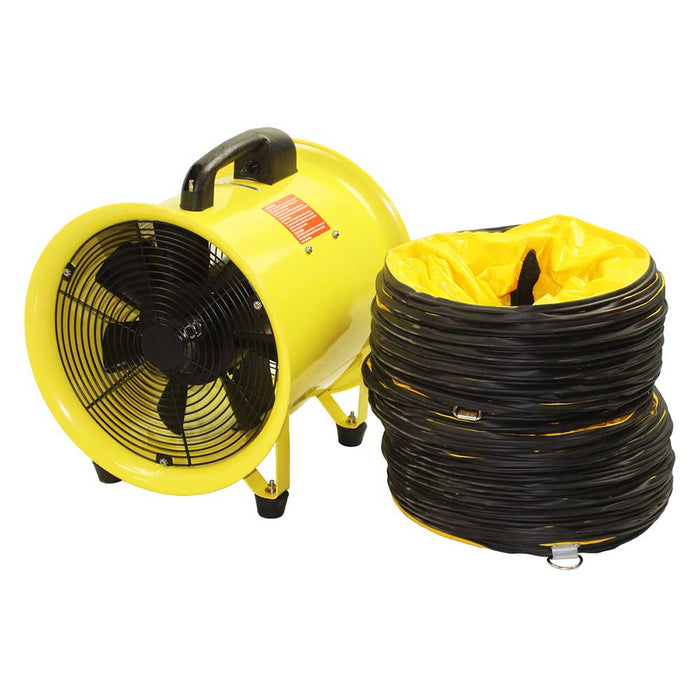 Maxx Air HVHF 08COMBO 8Inch 900-CFM Cylinder Fan with Hose - HVHF 08COMBOUPS
