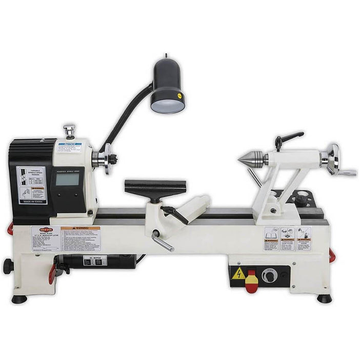 "Shop Fox W1836 12"" X 15"" Benchtop Wood Lathe with Variable-Speed Spindle Control"