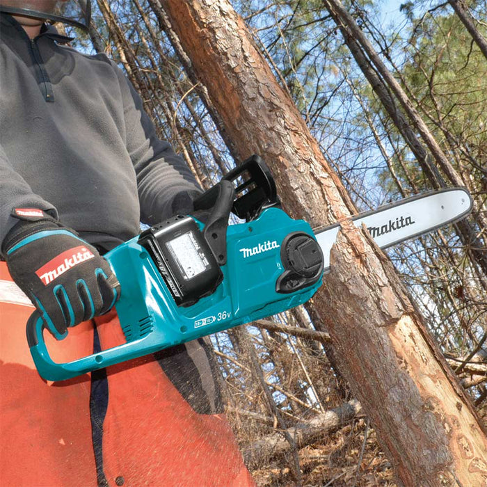 "Makita XCU04PT1 18V X2 36V 16"" Cordless Brushless Chainsaw Kit w/ 4 Batteries"