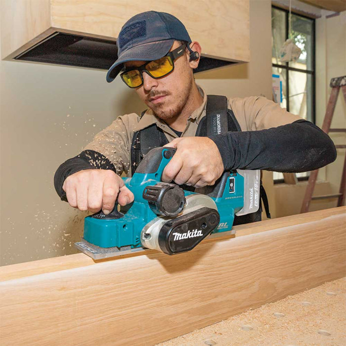 "Makita XPK02Z 18V LXT 3-1/4"" Li-Ion Cordless Planer w/ AWS Capable - Bare Tool"