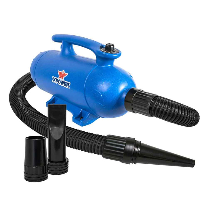 XPOWER B-27 6HP 180CFM Variable Speed Double Brush Motor Pro Force Air Pet Dryer