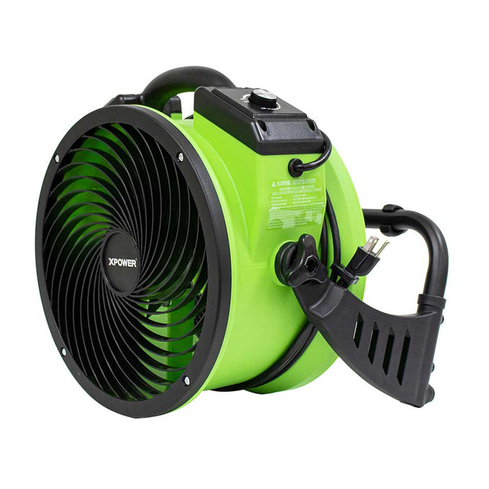 "XPower FC-250D 13"" Brushless DC Motor Axial Air Circulator Fan w/ Timer"