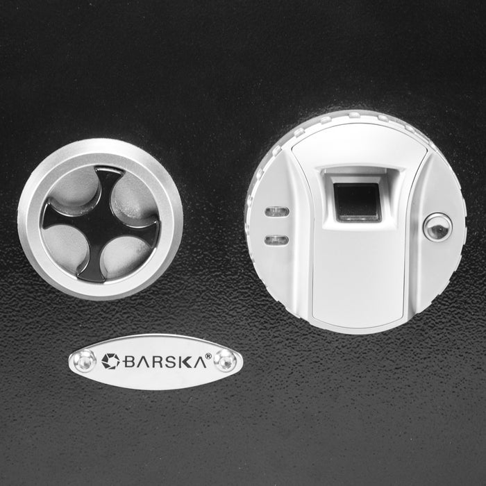 Barska AX12038 Steel Motorized Deadbolt Lock Biometric Wall Safe