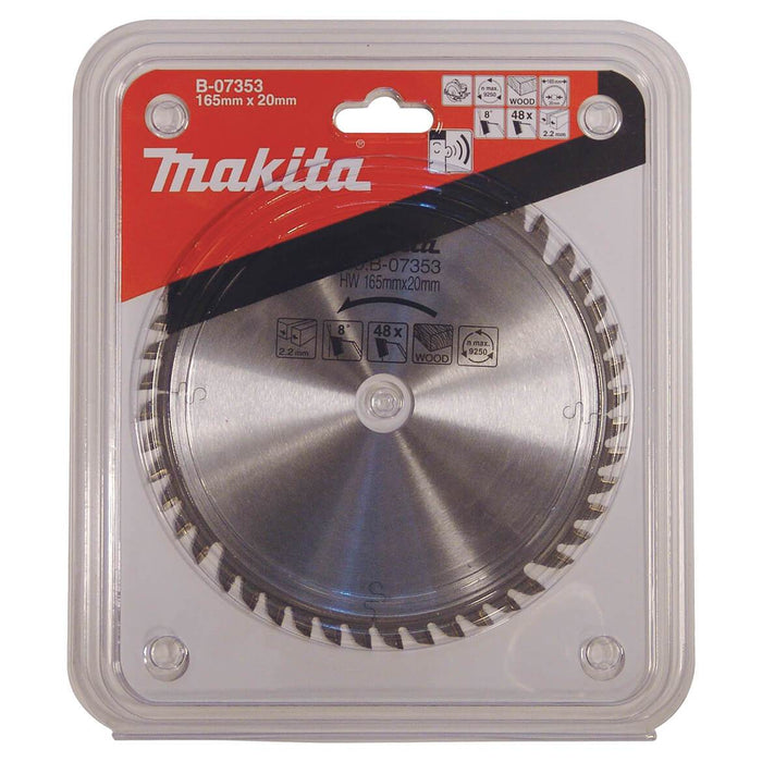 Makita B-07353 6-1/2-Inch 48-Tooth Carbide-Tipped Circular Saw Blade