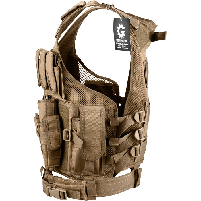 Barska BL12346 VX-200 Customizable Loaded Gear Dark Earth Tactical Vest