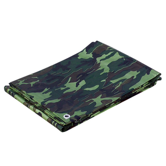 Weather Guard C010010 10' x 10' Green Camouflage Heavy Duty Lightweight Tarp