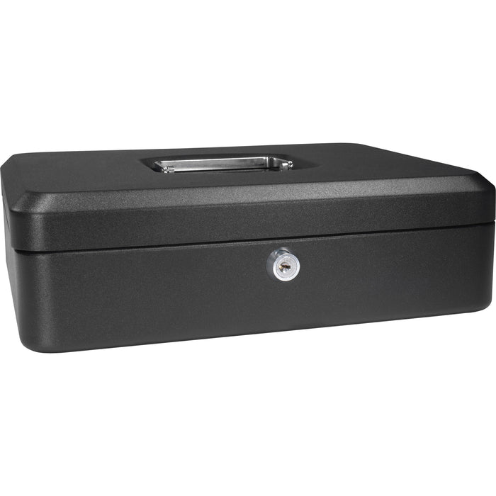 Barska CB11834 12-Inch 5 Compartment Removable Tray Cash Box with Key Lock