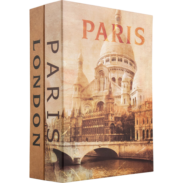 Barska CB12470 7.5-Inch Paris and London Dual book lock box with Key Lock