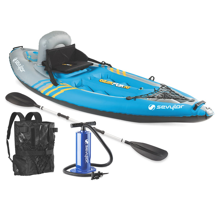 Coleman 2000014137 Sevylor 1-Person Durable Inflatable Coverless Quikpak Kayak