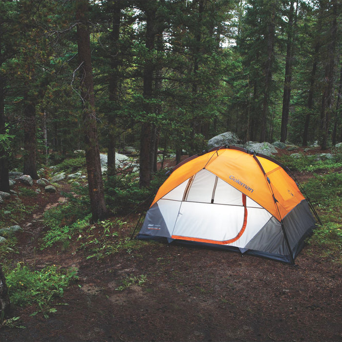 Coleman 2000015674 10-Foot x 7-Foot 5-Person Instant Dome Tent - Orange