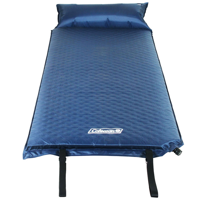 Coleman 2000016960 Durable Portable Compact Self-Inflating Camping Pad w/ Pillow
