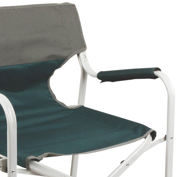Coleman 2000032011 Green Portable Cushion Outpost Deck Chair w// Side Table