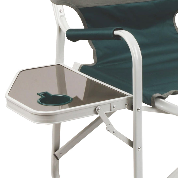 Coleman 2000032011 Green Portable Cushion Outpost Deck Chair w/ Side Table