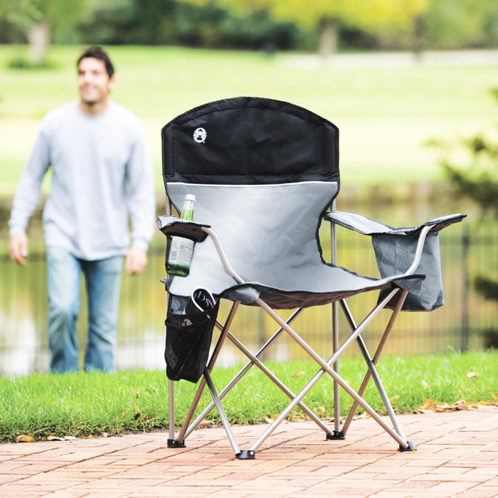 Coleman 2000020256 Portable Comfort Cup Holder Oversized Quad Chair w/ Cooler