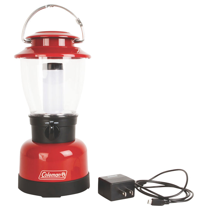 Coleman 2000020938 400-Lumens Red Portable Lithium-Ion Handle Classic Lantern