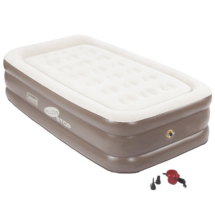 Coleman Supportrest Pillowstop Double High Inflatable Mattress Airbed  - Twin