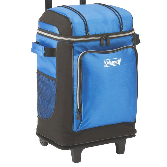 Coleman 3000001309 42-Cans Blue Wheel/Rolling Handle Soft Cooler w/ Liner