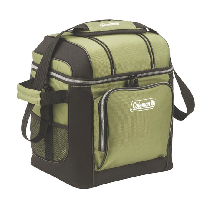 Coleman 3000001310 12.2 x 9.65 x 13.78-Inch 30-Cans Green Soft Cooler w/ Liner