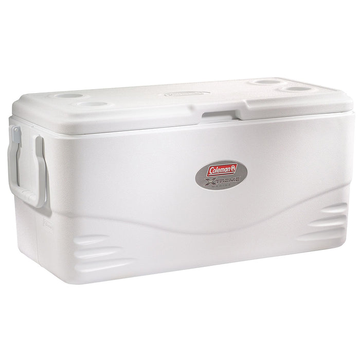 Coleman 3000002232 100-Quart Swing Handle Xtreme Marine Cooler - White
