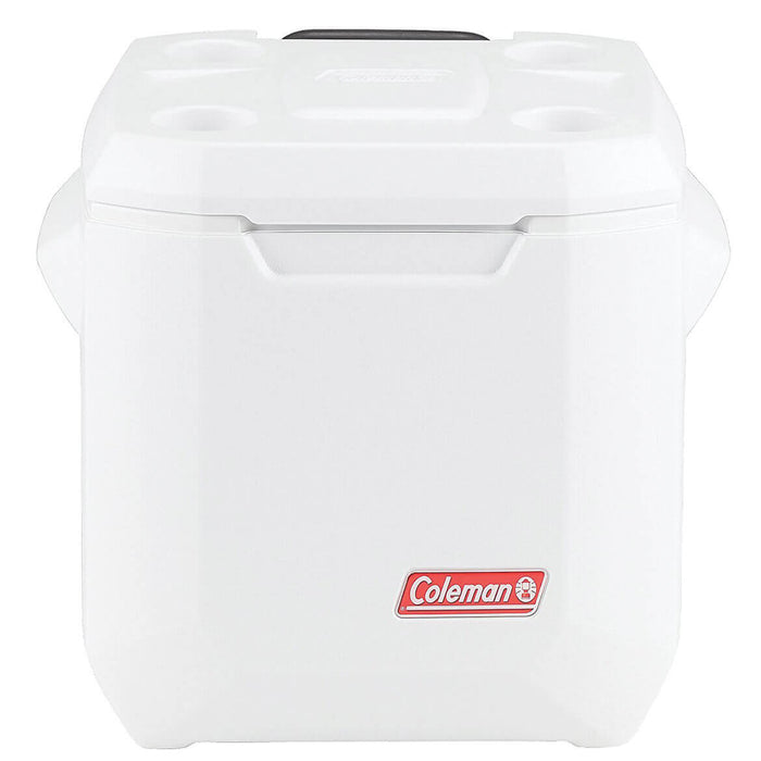 Coleman 3000005163 40-Quart Coastal Xtreme Series Marine Wheeled Cooler - White